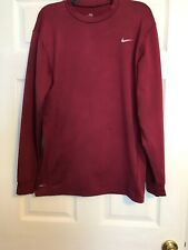 Men's NikeFit Thermal Compression Shirt Xxl Red Polyester Blend