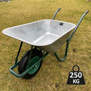 Schubkarre 100L Schiebkarre Metall Bauschubkarre Transportkarre Bau Gartenkarre