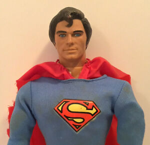 "VINTAGE MEGO 1977 SUPERMAN 12"" ACTION FIGURE DC COMICS REEVES HEAD COMPLETE"