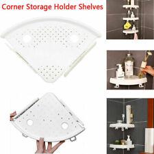 UK Bathroom Corner Storage Holder Shelves Punch- Corner Snap Up Shelf