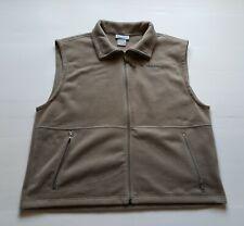 COLUMBIA sportwear  Men's XL Beige Fleece Jacket Full Zip Vest With Pockets