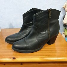 Fiore Leather Ankle Boots Size 7