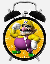 "Super Mario Wario Alarm Desk Clock 3.75"" Home or Office Decor Z105 Nice For Gift"