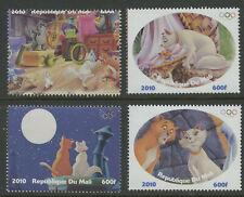 Aristocats Disney Kittens mnh set of 4 stamps 2010 Mali