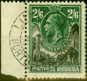 Northern Rhodesia 1925 2s6d Black & Green SG12 Very Fine Used CDS