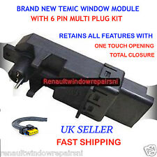 TEMIC RENAULT MEGANE SCENIC WINDOW REGULATOR MOTOR MODULE & 6 PIN MULTI PLUG-NEW