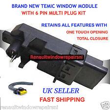 NEW TEMIC RENAULT MEGANE SCENIC WINDOW REGULATOR MOTOR MODULE & 6 PIN PLUG