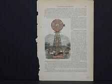 American Farmer, Barn, Farm Equipment c.1880 #26 Water Supply For The Farm