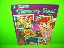 Sonic CHERRY BELL Original Arcade Flipper Game Pinball Machine Flyer 1978 Rare
