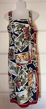 Nanette Lapore Hawaii S.Diego Postcard Print Tank Dress Size 4 Looks New