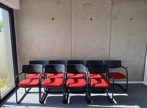 9x Vitra Visavis Freischwinger Konferenzstuhl/ Besucherstuhl