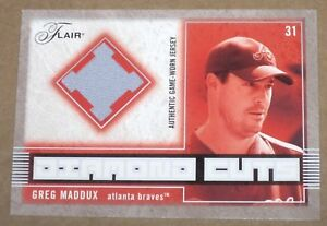 ~2003 Flair Diamond Cuts Greg Maddux #GM BRAVESJERSEY PATCH Card SP~