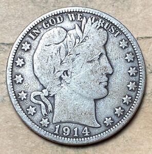 1914-P Barber Half Dollar  VG/F  **Better Date**