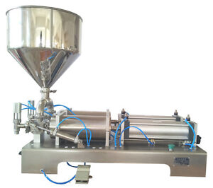 1200ml two heads Cream Shampoo Cosmetic full Pneumatic paste Filling Machine