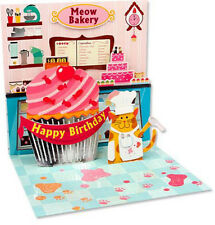 Cupcake Cat Pop-Up Birthday Card - Greeting Card by Up With Paper