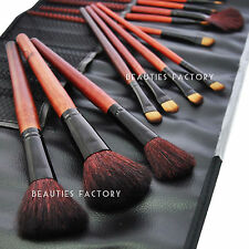 Beauties Factory 18pcs Pure Black Makeup Cosmetic Brush Set Eye Shadow Blush 283
