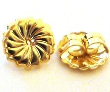 10 large premium round swirl 14k gold filled earring post backing back nutz GE26