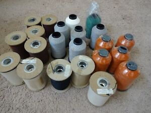 22 spools Rod Building Wrapping vintage threads butts wind Gudebrod Holland