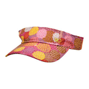 Warrina Designs Visor  Dancing Flower Hat Men Women Australian Aboriginal Art