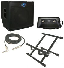 "Peavey Tnt115 Bass Guitar Combo 600W Amp 15"" Speaker W/ Footswitch Cable & Stand"