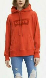 Levi's Women's Classic Pullover Hoodie With Graphic Logo In Red XS,S,M,L,XL