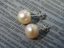 925 Sterling Silver Peach Freshwater Pearl Earrings