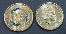 2018 $2 COIN - 40th ANNIVERSARY OF INDEPENDENCE - SOLOMON ISLANDS - COLOURED-UNC
