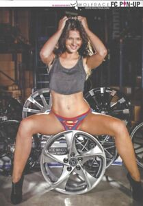 Fast Car Pin-Up Girl 'Nickie-Anne' - Sexy Underwear 1-Page Magazine Poster