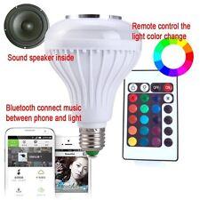 Wireless Bluetooth Audio Speaker 6W RGBW LED Bulb Dimmable E27/E26