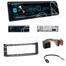 KENWOOD kdc-300uv radio + smart roadster (br 452) panneau ANTHRACITE + ISO adaptateur set