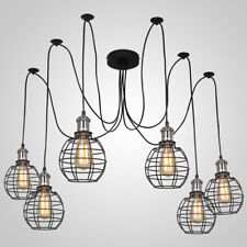 Spider Pendant Lighting Ceiling Light Industrial Hanging Light with Iron Cage