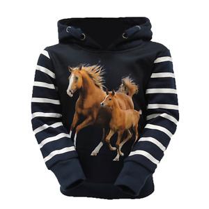 Mädchen Hoodie Pferde Kapuzenpullover Größe 86-146 Squared&Cubed F-40