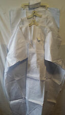 Men's Grand BouBou Pant Suit Traditional African Brocadee White One Size