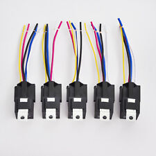 5pcs Car Automotive Relay 12V 30/40 Amp 5 Pin SPDT with Wires Harness Socket Kit