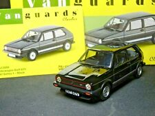 WOW EXTREMELY RARE 1/43 VANGUARDS VW GOLF MK1 GTI MARS BLACK NLA