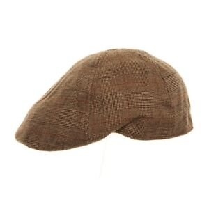 Checked Flat Cap H61 Brown Peaky Blinders Gatsby Newsboy Driving Hawkins Hat