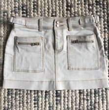 MARCS BABY DOLL Size 8 (6-8 XXS?) Grey Denim Mini Skirt W/ Zip Pocket Detail