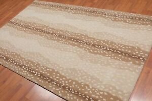 Old Hand Made Antelope Traditional Contemporary Style Wool Area Rug