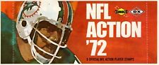 1  Sealed Pack of 1972 Sunoco Football Stamps (9 Stamps per Pack) Dolphins