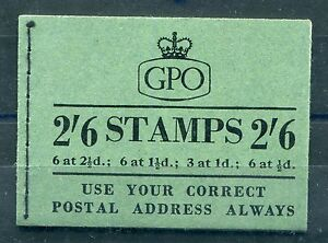 GB VERY GOOD EII 2/6 BOOKLET APRIL 1955 SG F29 NICE PERFS