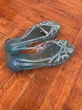 Vintage Blue Ball rubber Plastic Rain Size 6 Flat Shoes