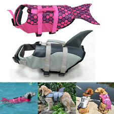 Dog Life Jacket Aid Buoyancy Small Large Breed Shark/Fin Boating Vest Swimming~~
