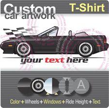 Custom T-shirt 1988 89 90 1991 91 Mazda RX-7 Fc S5 Turbo II GXL RX7 Convertible