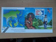 Malaysia 1992 1 Sep 125th Anniv of First Malaysian Stamp MS FDC Bureau p/mark KL