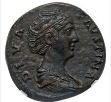 Diva Faustina Senior (died AD 140/1). NGC Choice XF 4/5 - 2/5, smoothing.