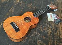 Kala KA-SEM Exotic Mahogany Soprano Lite Gloss Ukulele w/ Aquila Strings