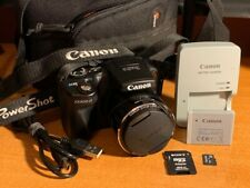 Canon PowerShot SX500 IS 16.0MP Digital Camera - Black + Case + SD Card