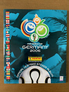 2006 WORLD CUP GERMANY PANINI STICKER ALBUM COMPLETE