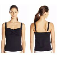 NEW TYR Women's Black Twisted Bra Tankini Swimsuit Top Size 16
