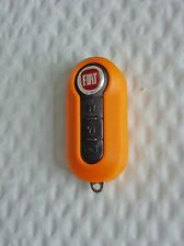 New ORANGE Case for FIAT 500 3 Button Remote Flip Key Fob  Free US Shipping